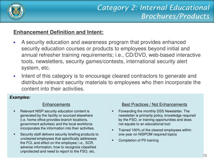 Category 2: Internal Educational