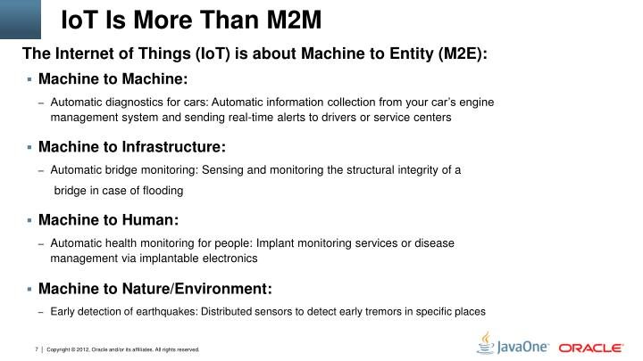 IoT Is More Than M2M