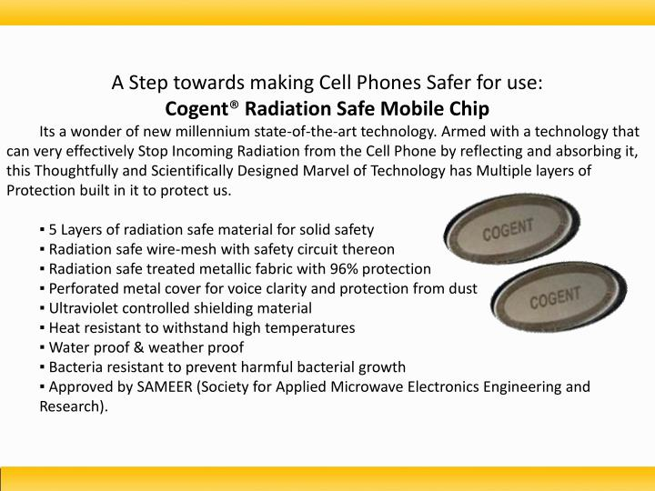 A Step towards making Cell Phones Safer for use: