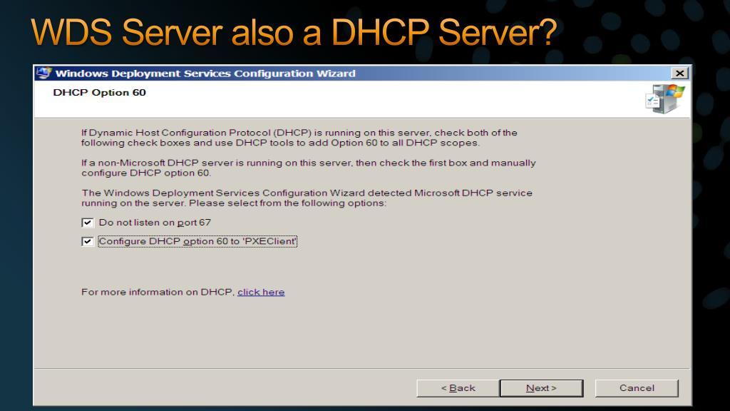 PPT - Windows Deployment Service (WDS) vs Microsoft