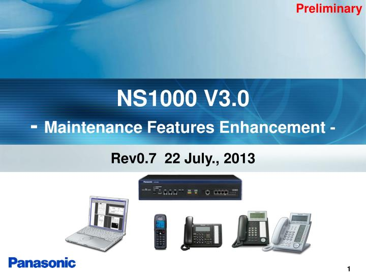 ns1000 v3 0 maintenance features enhancement n.