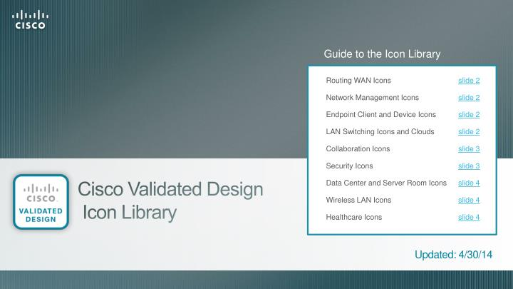 PPT - Cisco Validated Design Icon Library PowerPoint
