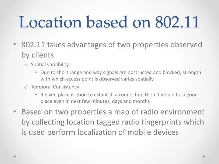Location based on 802.11