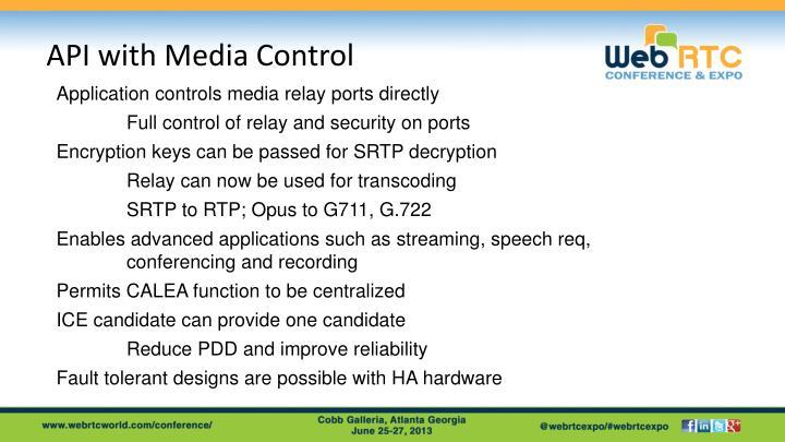 API with Media Control