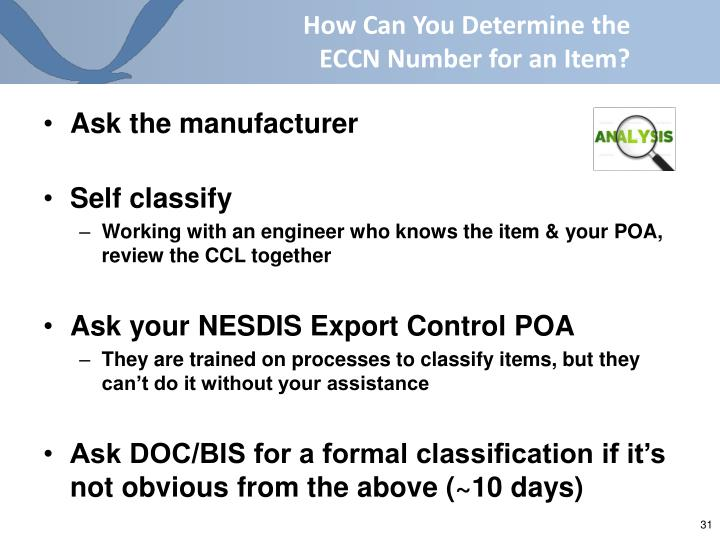 How Can You Determine the ECCN Number for an Item?