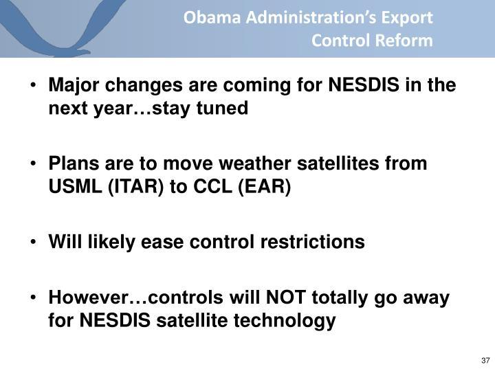 Obama Administration's Export Control Reform