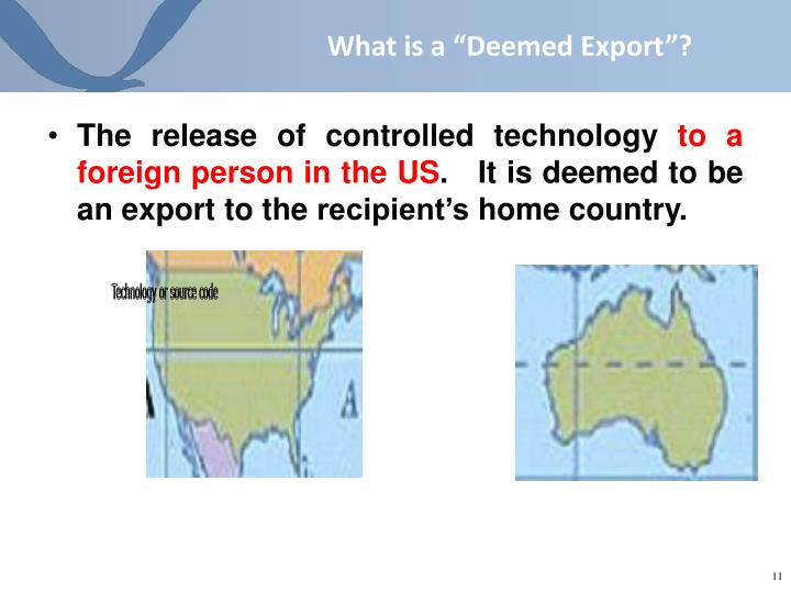 """What is a """"Deemed Export""""?"""