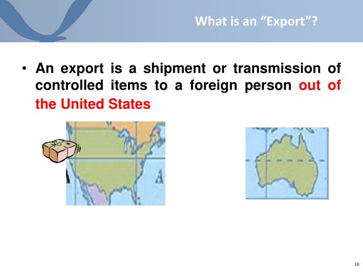 """What is an """"Export""""?"""