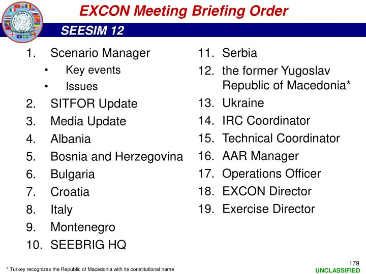 EXCON Meeting