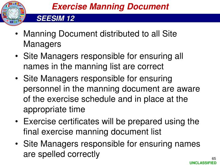 Exercise Manning Document