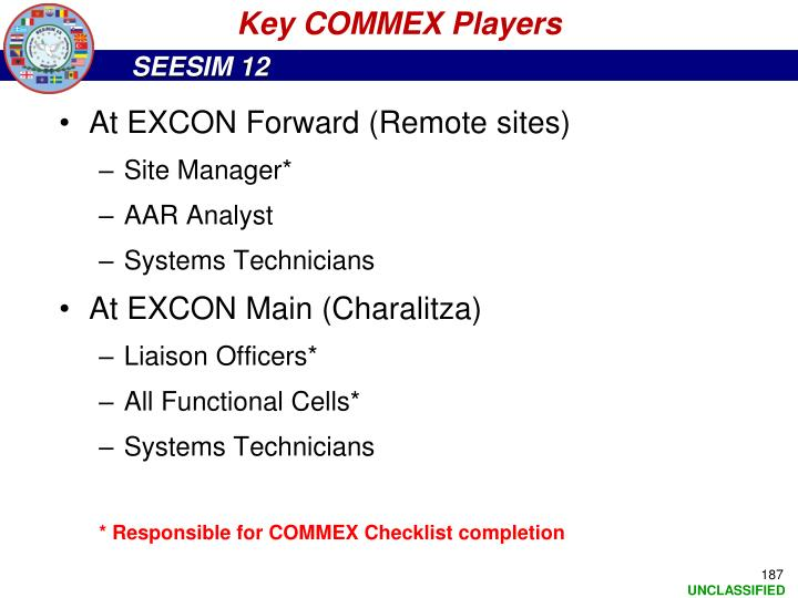 Key COMMEX Players