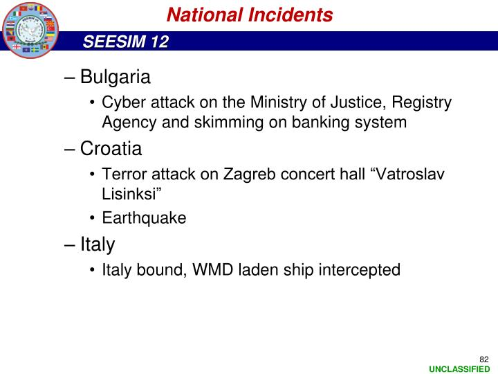 National Incidents