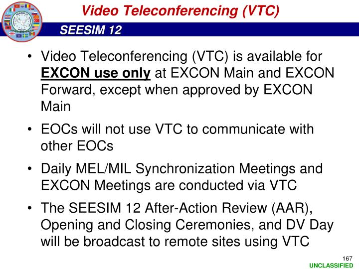 Video Teleconferencing (VTC)