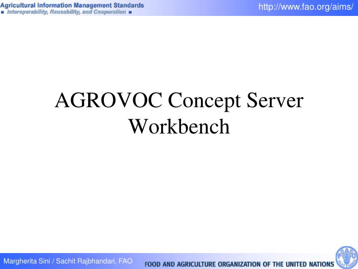 AGROVOC Concept Server Workbench