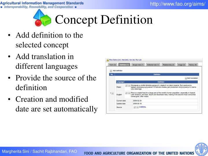 Concept Definition