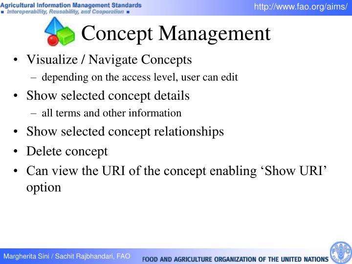 Visualize / Navigate Concepts