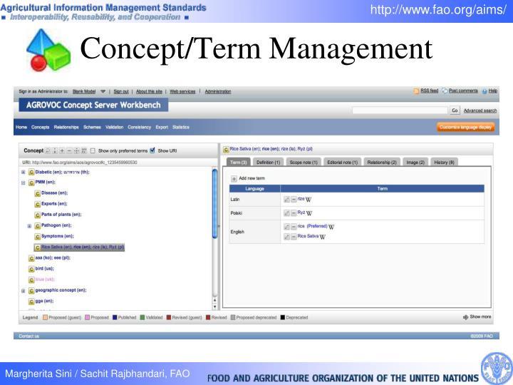 Concept/Term Management