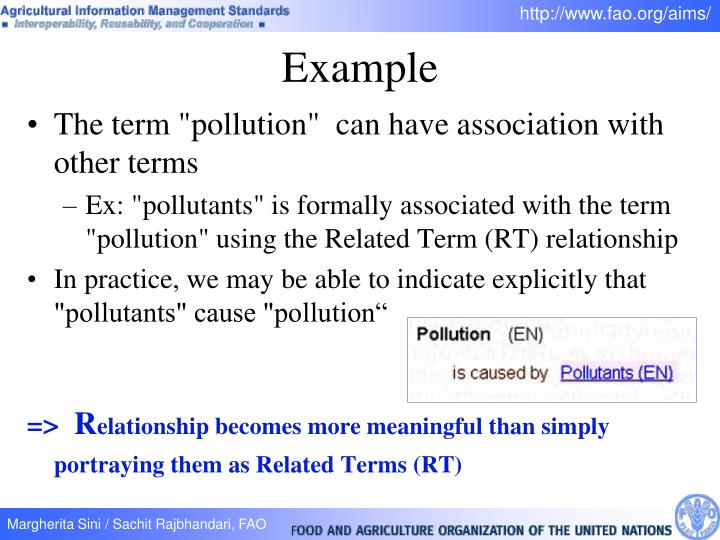 """The term """"pollution""""  can have association with other terms"""