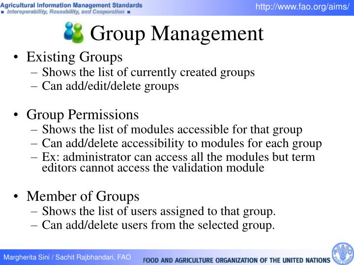 Existing Groups