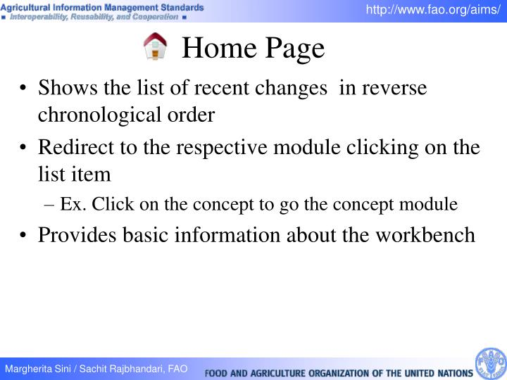 Shows the list of recent changes  in reverse chronological order
