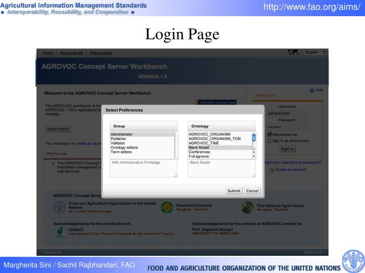 Login Page