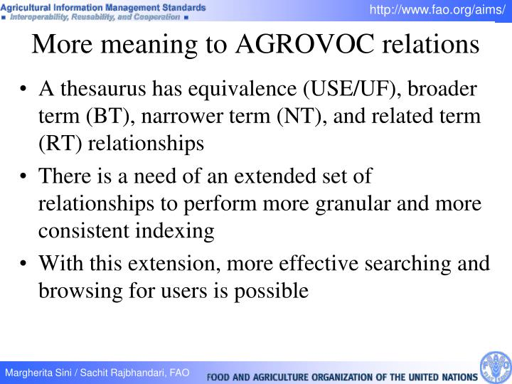 A thesaurus has equivalence (USE/UF), broader term (BT), narrower term (NT), and related term (RT) relationships