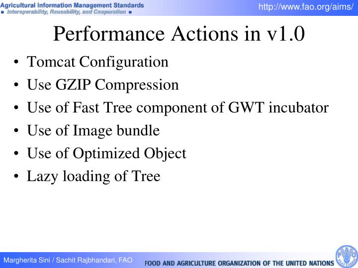 Performance Actions in v1.0