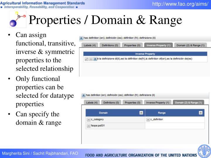 Properties / Domain & Range