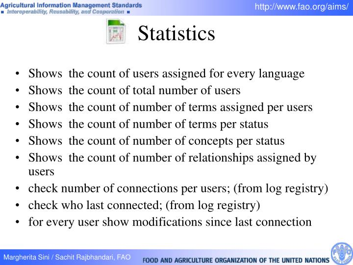 Shows  the count of users assigned for every language