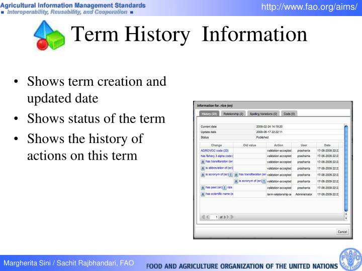 Term History  Information