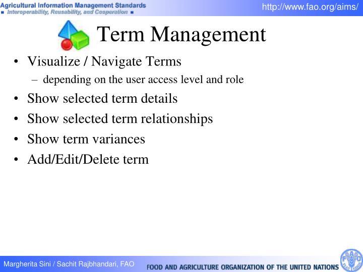 Visualize / Navigate Terms