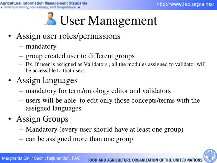 Assign user roles/permissions