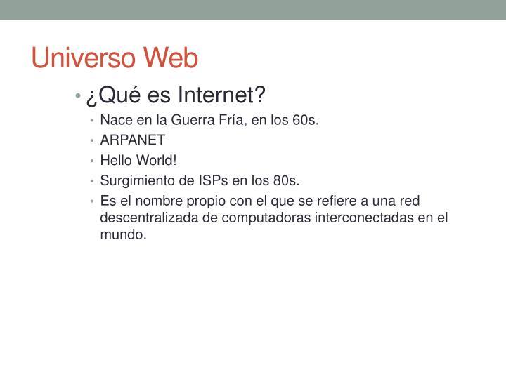 Universo web