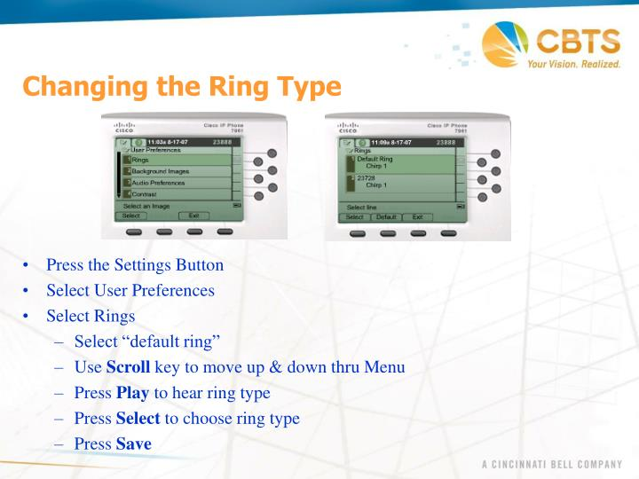 Changing the Ring Type