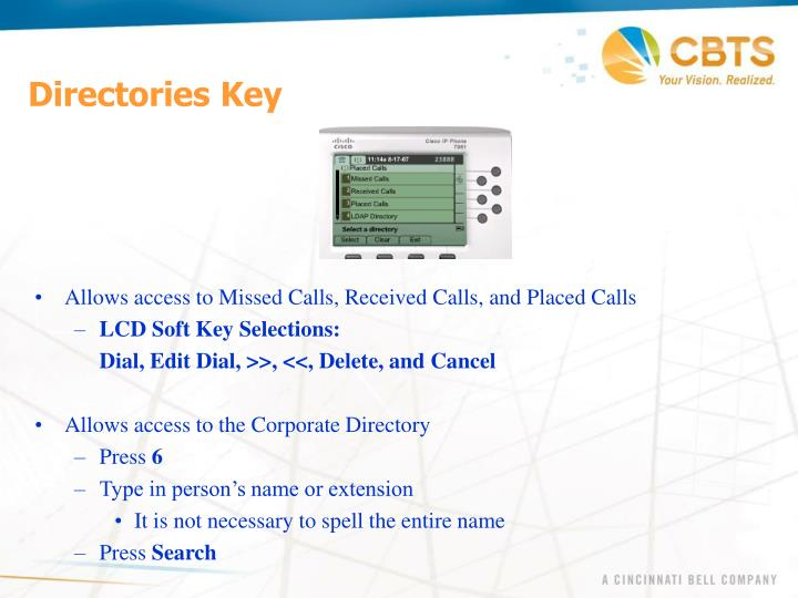Directories Key