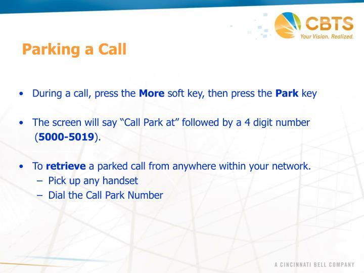 Parking a Call