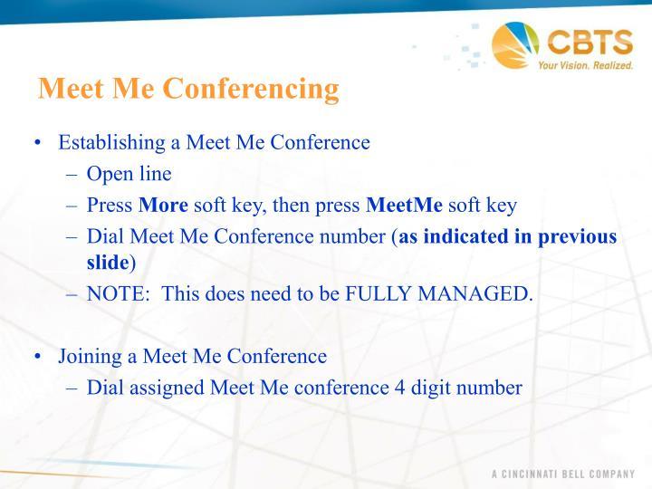 Meet Me Conferencing