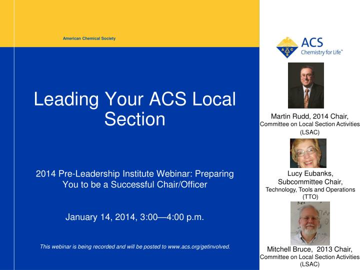 leading your acs local section n.