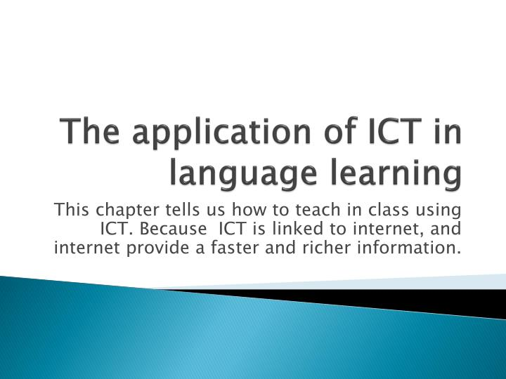 application of ict in classrooms in