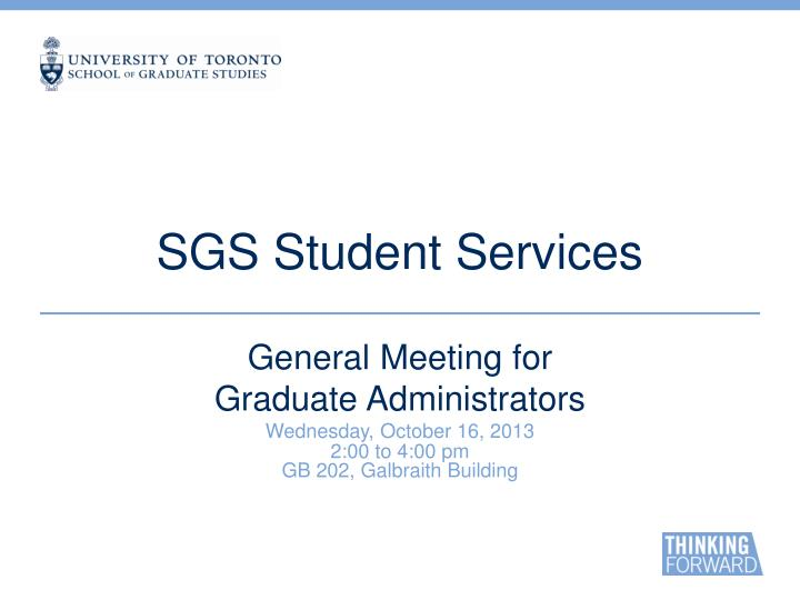 sgs student services n.
