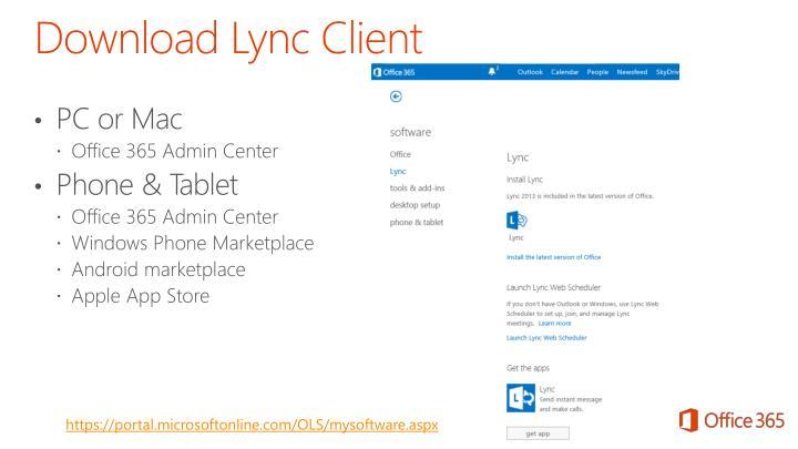 Download Lync Client