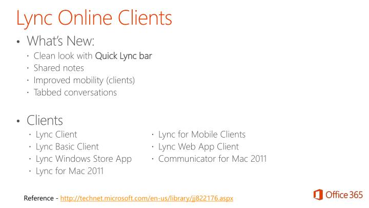 Lync Online Clients