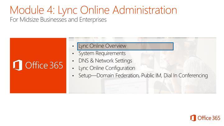 Module 4 lync online administration