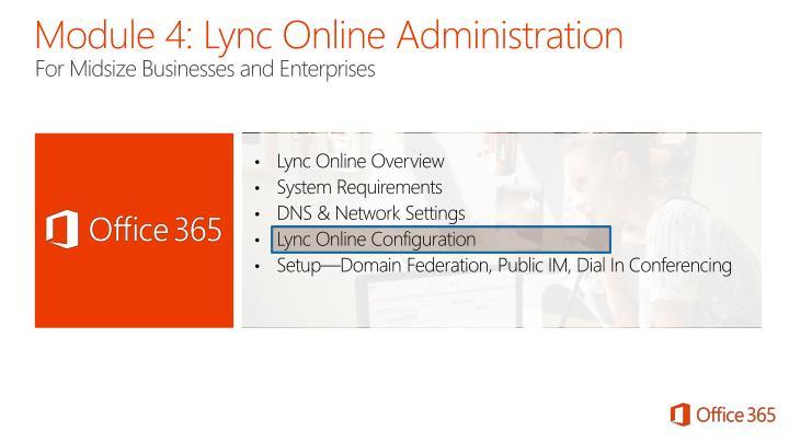 Module 4: Lync Online Administration