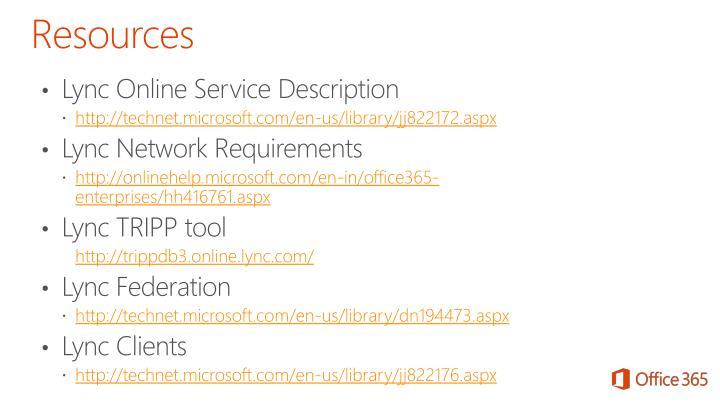 Lync Online Service Description