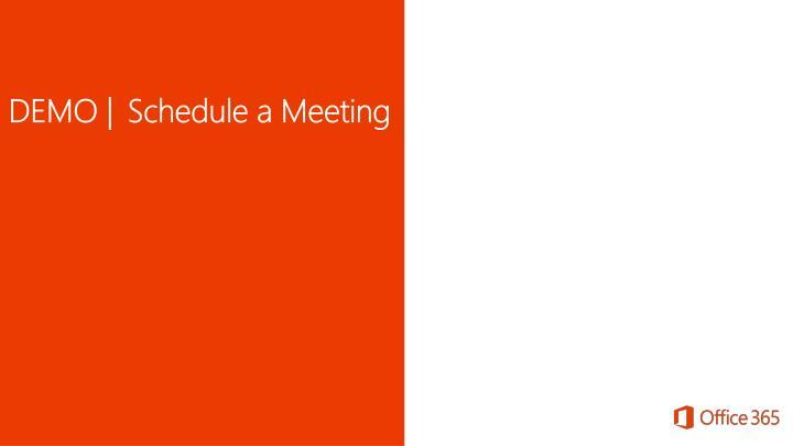 DEMO | Schedule a Meeting