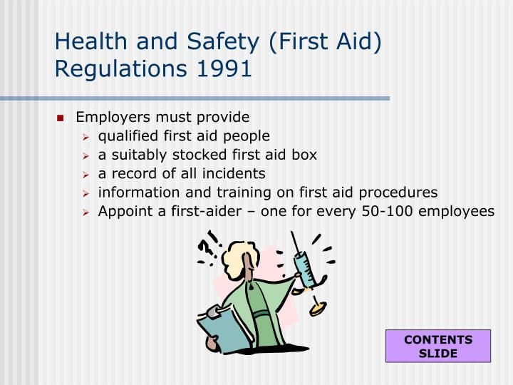 Health and Safety (First Aid) Regulations 1991