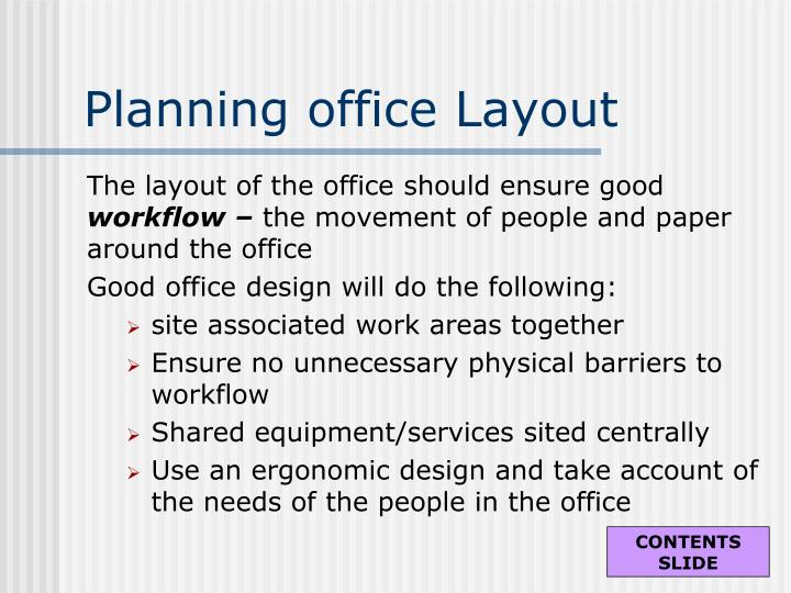 Planning office Layout