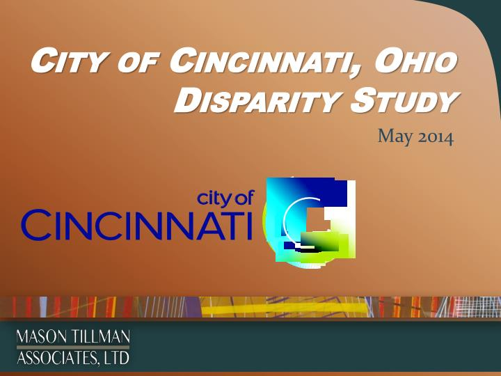 city of cincinnati ohio disparity study n.
