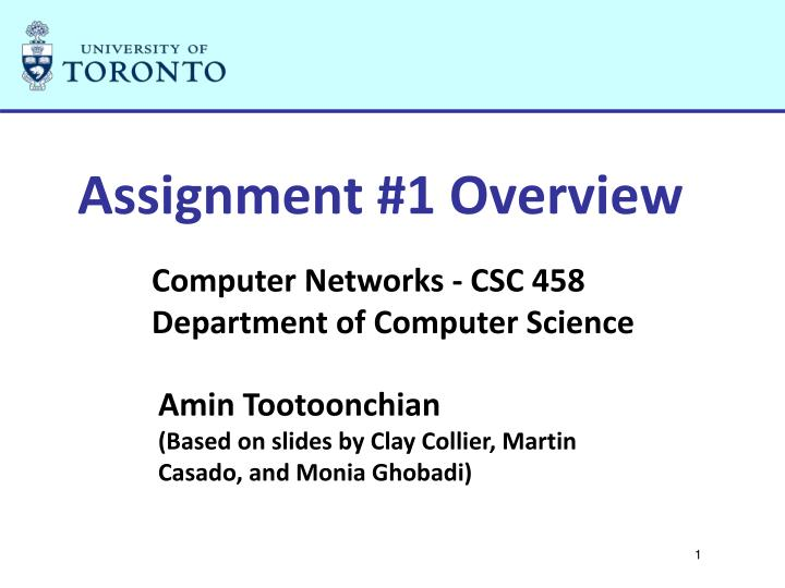 assignment 1 overview n.